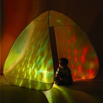 Tente blanche pour projection